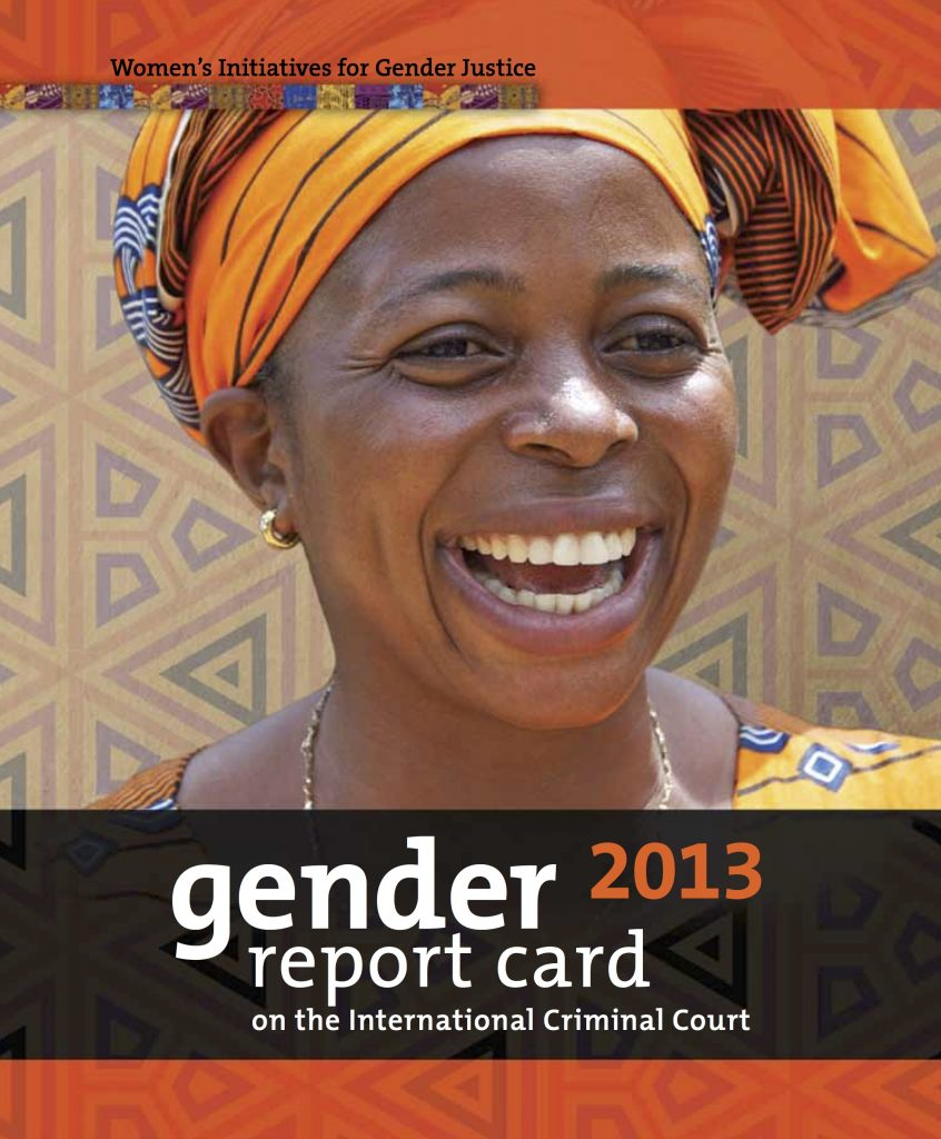 Gender Report Card on the ICC 2013