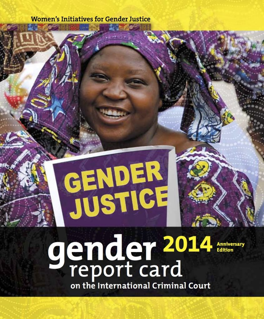 Gender Report Card on the ICC 2014