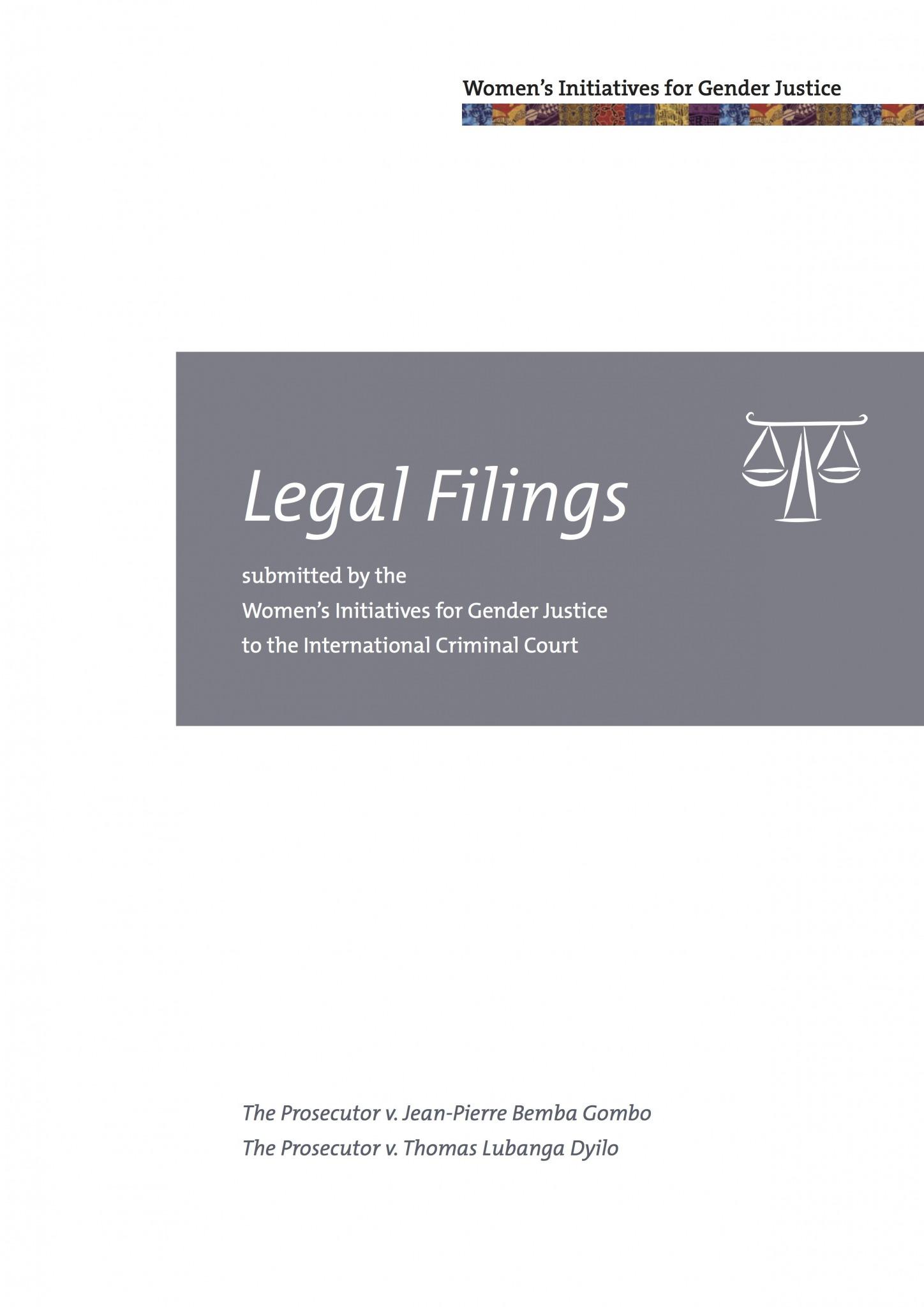 Cover of Legal Filings