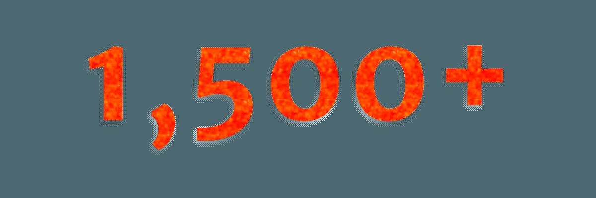 1500+